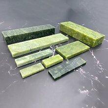 Grande pierre à aiguiser verte, base en agate