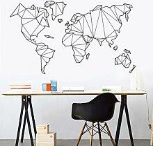 Grande taille géométrique carte du monde