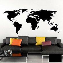 Grandora Tatouage Mural Carte du Monde Carte du