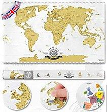 Grattez la Carte du Monde personnalisée Carte du