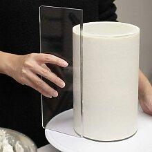 Grattoir à gâteau en acrylique Transparent,