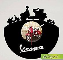 Gravinci.de Horloge murale en vinyle Vespa