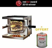 GREADEN Mini Barbecue à Gaz Mobile Beef Chef -