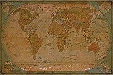 GREAT ART® – Papier Peint – Carte du Monde
