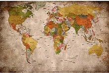 GREAT ART® Affiche – Carte du monde rétro