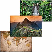 GREAT ART Lot de 3 Affiches XXL – Aventure Inca