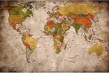 GREAT ART® XXL Affiche – Carte du Monde rétro