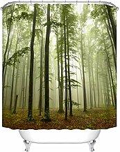 GreatHomeArt Rideau de douche en tissu polyester