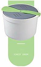 GreenCC Cuiseur à Riz Micro-Ondes 2L en PP de