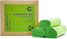 Greenland Lot de 60 sacs poubelle respectueux de