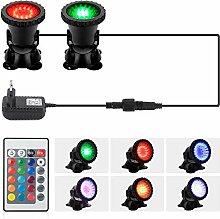 GreenSun LED Lighting 4W RGB Spot Light 2 in 1 Led