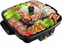 GRILL ELECTRIQUE Gril de Barbecue Portable,Marmite
