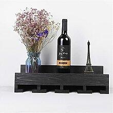 Grille à vin en bois massif, armoire à vin