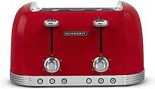 Grille-pain 4 fentes 1630 W SCT04R rouge Schneider