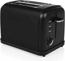 Grille-pain 950 W Acier inoxydable Noir mat -