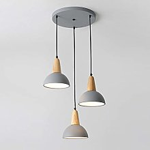 Gris Restaurant Table Manger Lampe Suspension