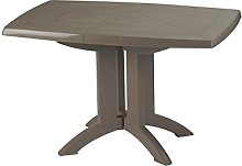 GROSFILLEX Vega Table, Taupe, 118 x 77 x 72 cm