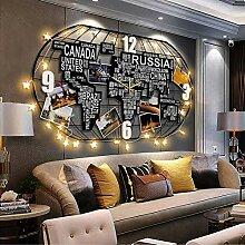 GRX-CLOCK Carte du Monde Horloge Murale Cuisine