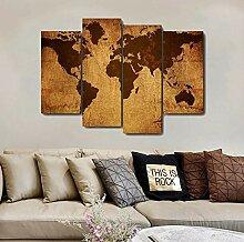 GSDFSD Tableau Decoration Murale De Carte du Monde