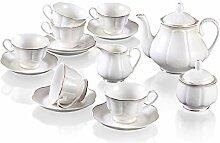 GuangYang Service à Café Tasses Porcelaine