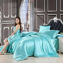 GUANLIDE Satin Silk Bedding Set, Home Textile King