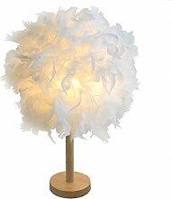GUANSHAN Lampe de chevet en plumes sphériques