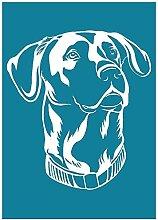 Guanweun Great Dane Dog Auto-adhésif sérigraphie