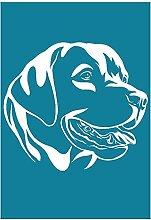 Guanweun Labrador Dog Auto-adhésif sérigraphie