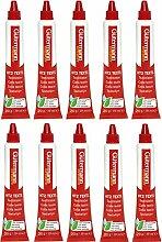 Guetermann HT2 Lot de 10 tubes de colle textile 20
