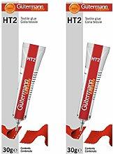 Gütermann Lot de 2 tubes de colle textile HT2