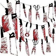 Guirlande d'armes sanglantes pour Halloween