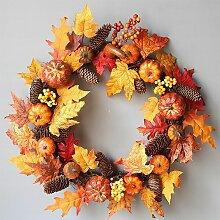 Guirlande d'automne de feuille d'érable