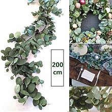 Guirlande d'eucalyptus verte de 2M, fausses
