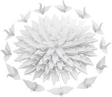 Guirlande d'oiseau en papier Origami plié de