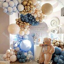 Guirlande de ballons double crème pêche, 198