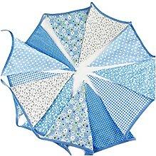 Guirlande de fanions triangulaires en tissu Bleu