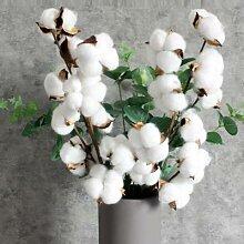 Guirlande de fleurs artificielles en coton séché
