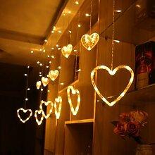 Guirlande de mariage 3m, rideau Led, lumières