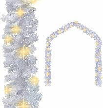 Guirlande de Noel avec lumieres LED 10 m Blanc