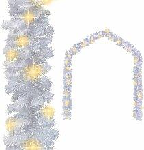 Guirlande de Noël avec lumières LED 10 m Blanc