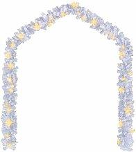 Guirlande de Noël avec lumières LED 20 m Blanc
