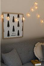 Guirlande de Noël Led (2,20 m) Abete Blanc Chaud