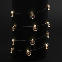 Guirlande de Noël lumineuse ampoule Xmas - Marron