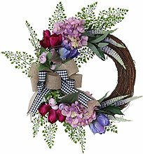 Guirlande de porte artificielle, fleur