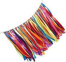 Guirlande de ruban en tissu avec fanions -