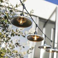 Guirlande décorative BOWL GALVA | avec-ampoules