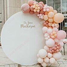 Guirlande en arc de ballons rétro rose Macaron,