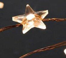 Guirlande étoile LED lumineuse  JJA - Blanc chaud