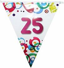 Guirlande fanion 25 ans - 6X0.30m - l'unité