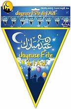 Guirlande fanion joyeuse fête de l'Aïd (x1)